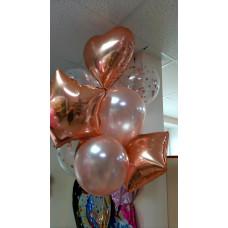 Фонтан из воздушных шаров Pink